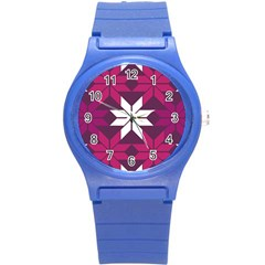Pattern Background Texture Aztec Round Plastic Sport Watch (s)