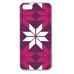 Pattern Background Texture Aztec Apple Seamless Iphone 5 Case (clear)