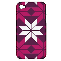 Pattern Background Texture Aztec Apple iPhone 4/4S Hardshell Case (PC+Silicone)