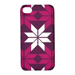 Pattern Background Texture Aztec Apple Iphone 4/4s Hardshell Case With Stand