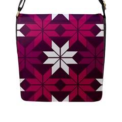 Pattern Background Texture Aztec Flap Messenger Bag (l)