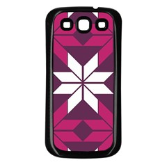 Pattern Background Texture Aztec Samsung Galaxy S3 Back Case (black)