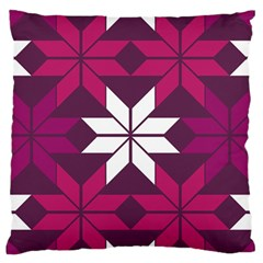 Pattern Background Texture Aztec Large Flano Cushion Case (one Side)