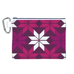 Pattern Background Texture Aztec Canvas Cosmetic Bag (l)