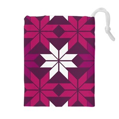 Pattern Background Texture Aztec Drawstring Pouches (extra Large)