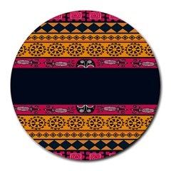Pattern Ornaments Africa Safari Summer Graphic Round Mousepads