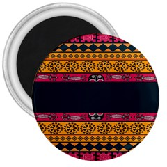 Pattern Ornaments Africa Safari Summer Graphic 3  Magnets