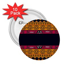 Pattern Ornaments Africa Safari Summer Graphic 2 25  Buttons (10 Pack)