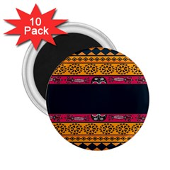 Pattern Ornaments Africa Safari Summer Graphic 2 25  Magnets (10 Pack)