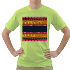 Pattern Ornaments Africa Safari Summer Graphic Green T Shirt