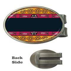 Pattern Ornaments Africa Safari Summer Graphic Money Clips (oval)