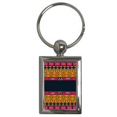 Pattern Ornaments Africa Safari Summer Graphic Key Chains (rectangle)