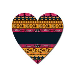 Pattern Ornaments Africa Safari Summer Graphic Heart Magnet