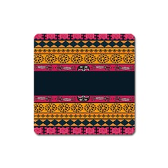 Pattern Ornaments Africa Safari Summer Graphic Square Magnet