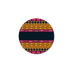 Pattern Ornaments Africa Safari Summer Graphic Golf Ball Marker