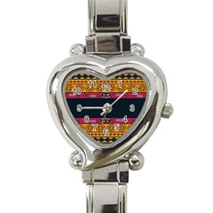 Pattern Ornaments Africa Safari Summer Graphic Heart Italian Charm Watch