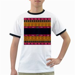 Pattern Ornaments Africa Safari Summer Graphic Ringer T Shirts