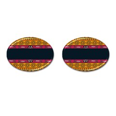 Pattern Ornaments Africa Safari Summer Graphic Cufflinks (oval)