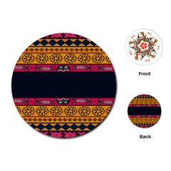 Pattern Ornaments Africa Safari Summer Graphic Playing Cards (round)