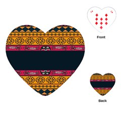 Pattern Ornaments Africa Safari Summer Graphic Playing Cards (heart)