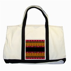 Pattern Ornaments Africa Safari Summer Graphic Two Tone Tote Bag
