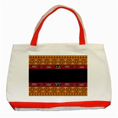 Pattern Ornaments Africa Safari Summer Graphic Classic Tote Bag (red)