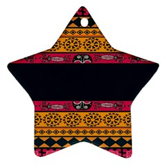 Pattern Ornaments Africa Safari Summer Graphic Star Ornament (Two Sides)