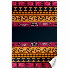 Pattern Ornaments Africa Safari Summer Graphic Canvas 12  X 18