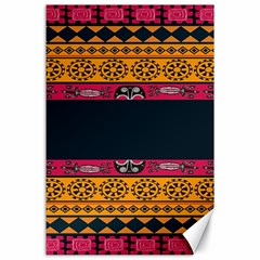 Pattern Ornaments Africa Safari Summer Graphic Canvas 24  X 36