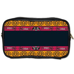 Pattern Ornaments Africa Safari Summer Graphic Toiletries Bags 2 Side