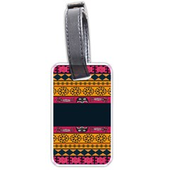 Pattern Ornaments Africa Safari Summer Graphic Luggage Tags (one Side)