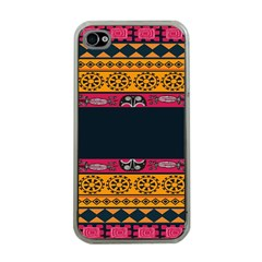Pattern Ornaments Africa Safari Summer Graphic Apple Iphone 4 Case (clear)