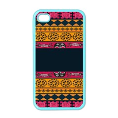 Pattern Ornaments Africa Safari Summer Graphic Apple Iphone 4 Case (color)