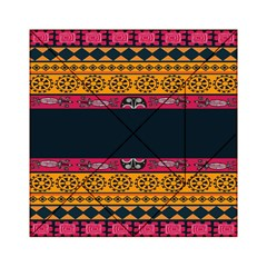 Pattern Ornaments Africa Safari Summer Graphic Acrylic Tangram Puzzle (6  X 6 )