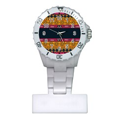 Pattern Ornaments Africa Safari Summer Graphic Plastic Nurses Watch