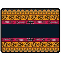 Pattern Ornaments Africa Safari Summer Graphic Double Sided Fleece Blanket (large)