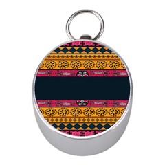 Pattern Ornaments Africa Safari Summer Graphic Mini Silver Compasses