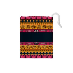 Pattern Ornaments Africa Safari Summer Graphic Drawstring Pouches (small)