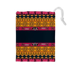 Pattern Ornaments Africa Safari Summer Graphic Drawstring Pouches (large)
