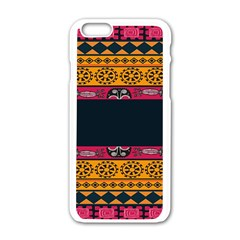 Pattern Ornaments Africa Safari Summer Graphic Apple Iphone 6/6s White Enamel Case