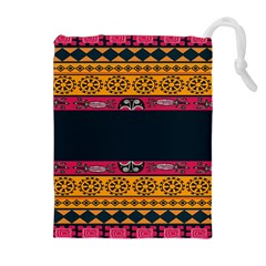 Pattern Ornaments Africa Safari Summer Graphic Drawstring Pouches (extra Large)