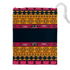 Pattern Ornaments Africa Safari Summer Graphic Drawstring Pouches (xxl)