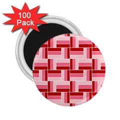 Pink Red Burgundy Pattern Stripes 2 25  Magnets (100 Pack)