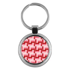 Pink Red Burgundy Pattern Stripes Key Chains (Round)
