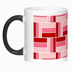 Pink Red Burgundy Pattern Stripes Morph Mugs
