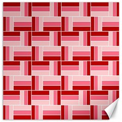 Pink Red Burgundy Pattern Stripes Canvas 16  X 16