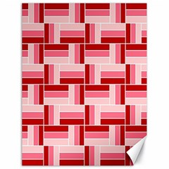 Pink Red Burgundy Pattern Stripes Canvas 18  X 24