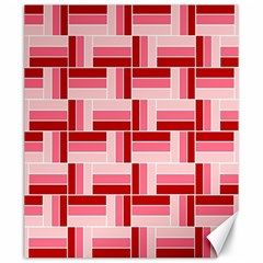 Pink Red Burgundy Pattern Stripes Canvas 20  X 24