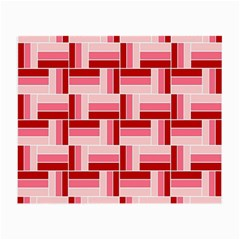 Pink Red Burgundy Pattern Stripes Small Glasses Cloth (2 Side)