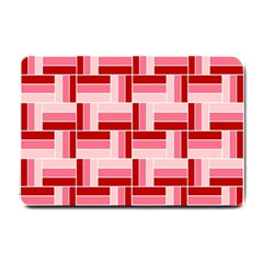 Pink Red Burgundy Pattern Stripes Small Doormat
